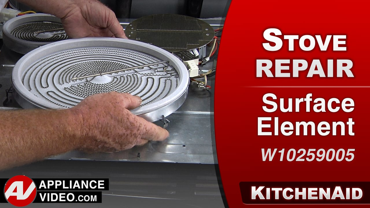 KitchenAid KERS505XBL Stove – Surface burner does not get hot – Surface Element