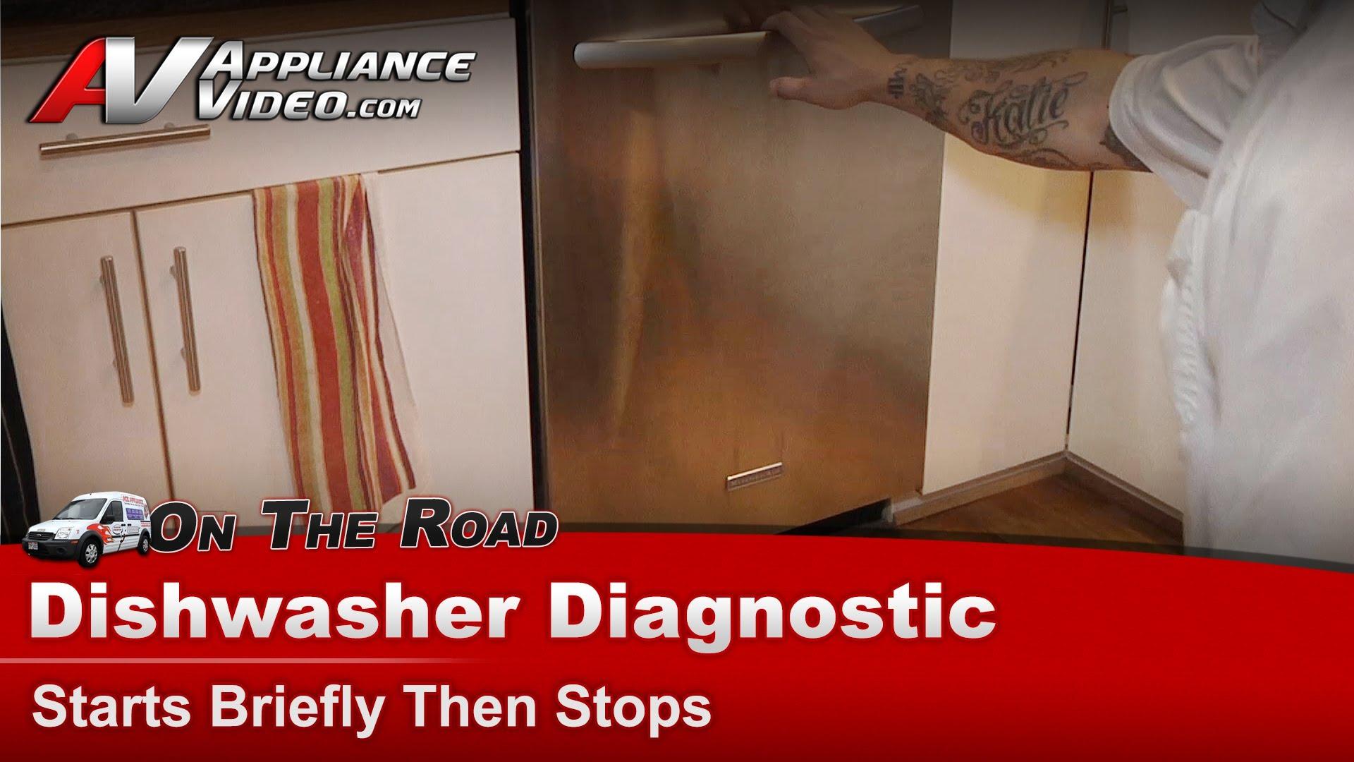Kitchenaid Kudc03fvss4 Dishwasher Diagnostic Starts Briefly Then