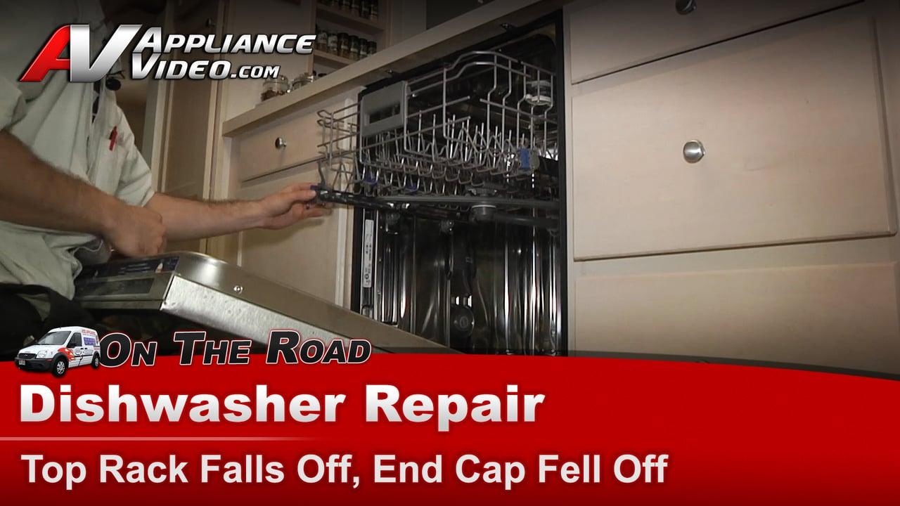 Kitchen Aid Dishwasher Top Rack Falls Off