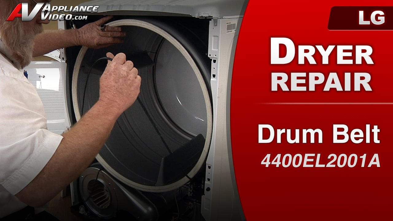 Lg Dryer Drum In The Hole ~ Lg dle w dryer noise issues drum belt appliance video
