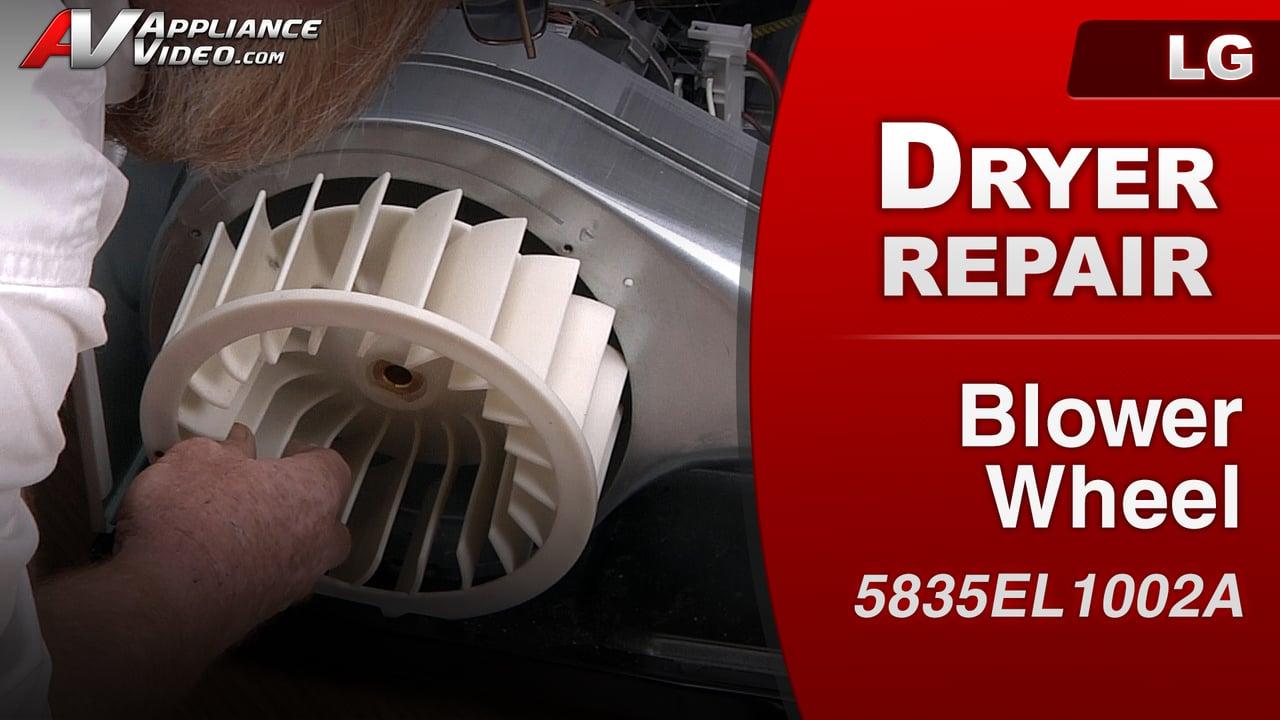 LG DLE1001W Dryer – Poor airflow – Blower Wheel