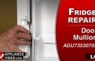 LG LFC28768ST Refrigerator – Doors will not close properly – Fresh Food Door Mullion