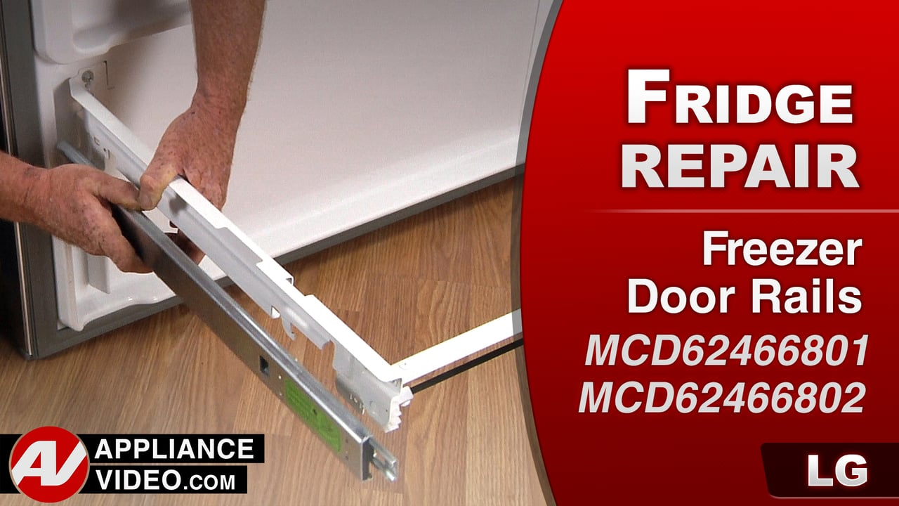 LG LFC28768ST Refrigerator – Drawer will not open – Freezer Left Drawer Rails
