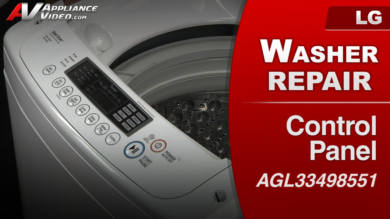 LG WT1001CW Washer – Buttons will not respond – Control Panel