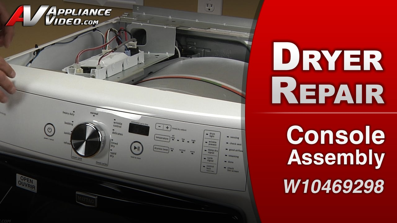 Maytag MED4200BW0 Dryer – Controls will not respond – Console Assembly