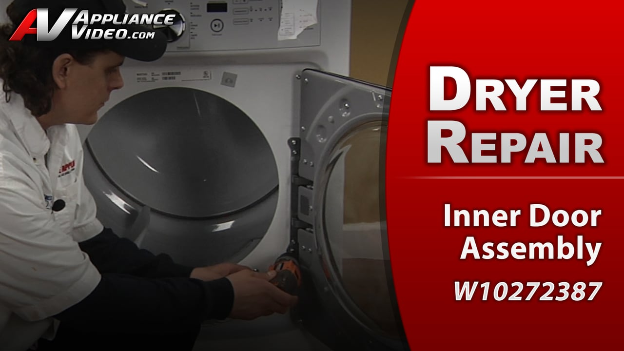Maytag MED4200BW0 Dryer \u2013 Door will not stay shut \u2013 Inner Door Assembly & Maytag MED4200BW0 Maxima X Steam Dryer | Appliance Video Pezcame.Com