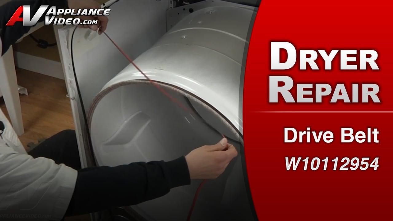 Maytag MED4200BW0 Dryer – No spin – Drive Belt