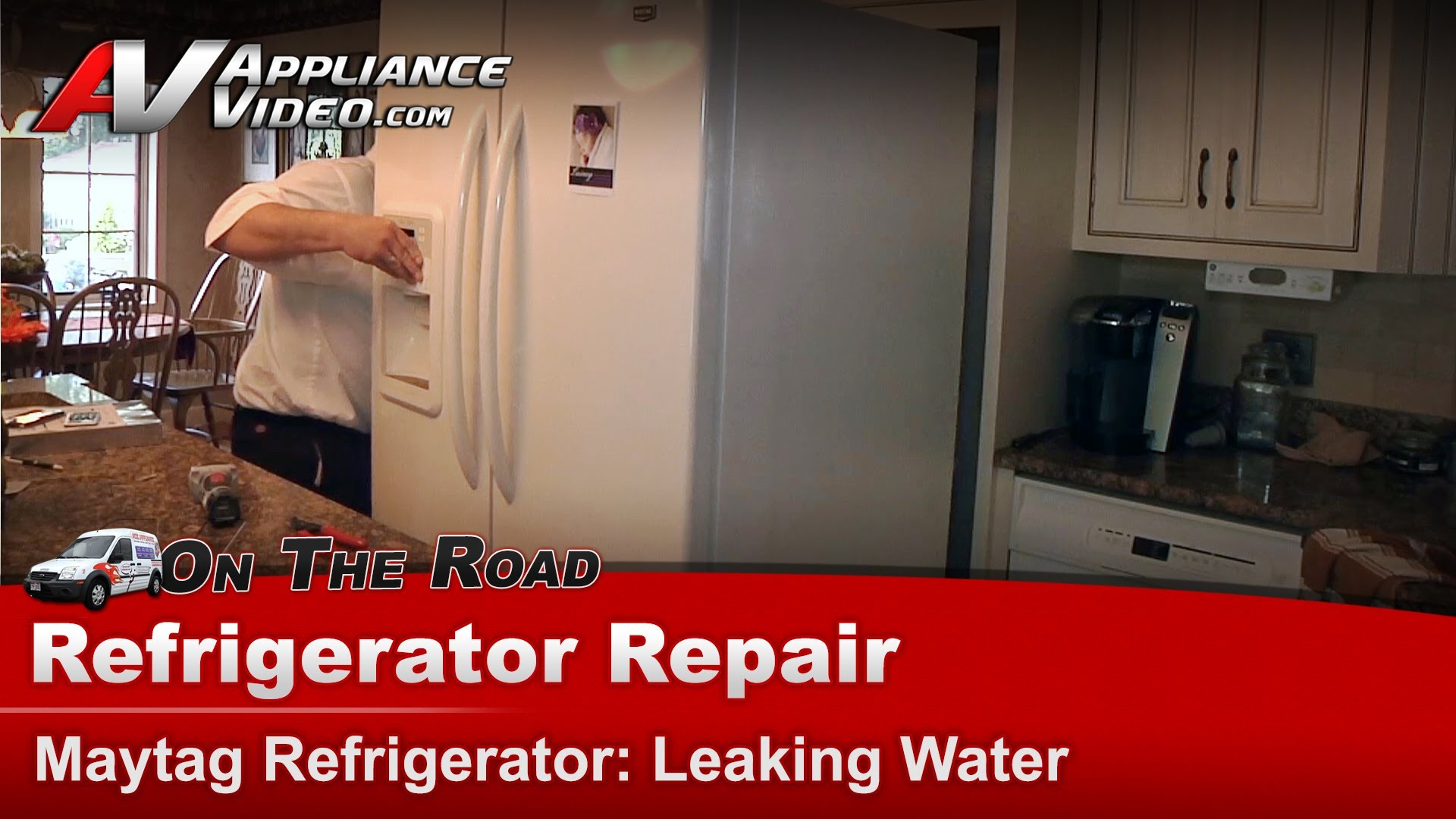 Maytag Mf12569veq2 Refrigerator Repair Leaking Water