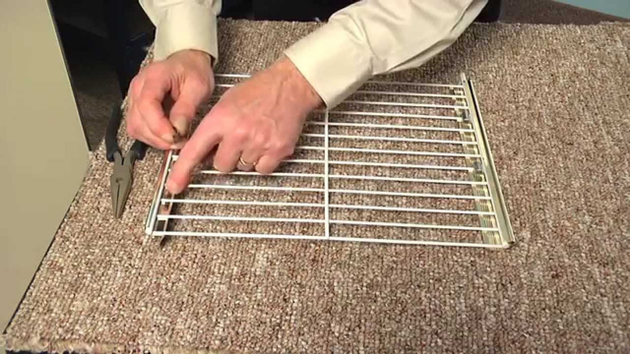 Refrigerator Wire Shelves | Replacing Freezer Shelf On A Hotpoint Refrigerator Appliance Video