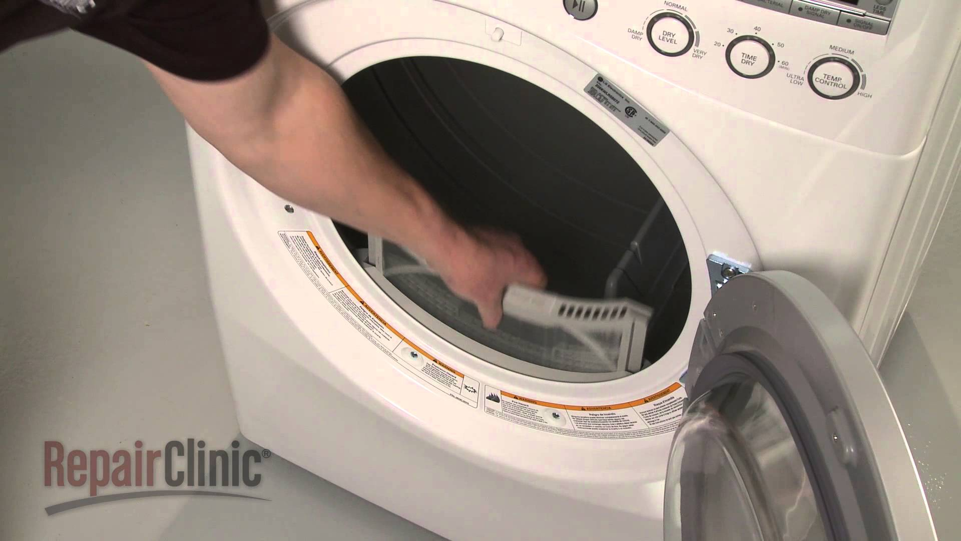 Replacing Lint Filter On A Lg Dryer Appliance Video