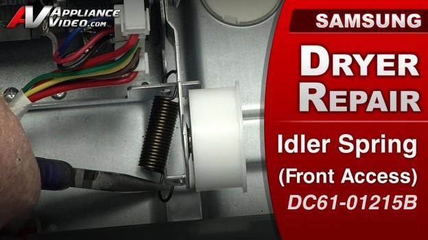Samsung DV422EWHDWR Dryer – Drum will not turn – Idler Spring (Front