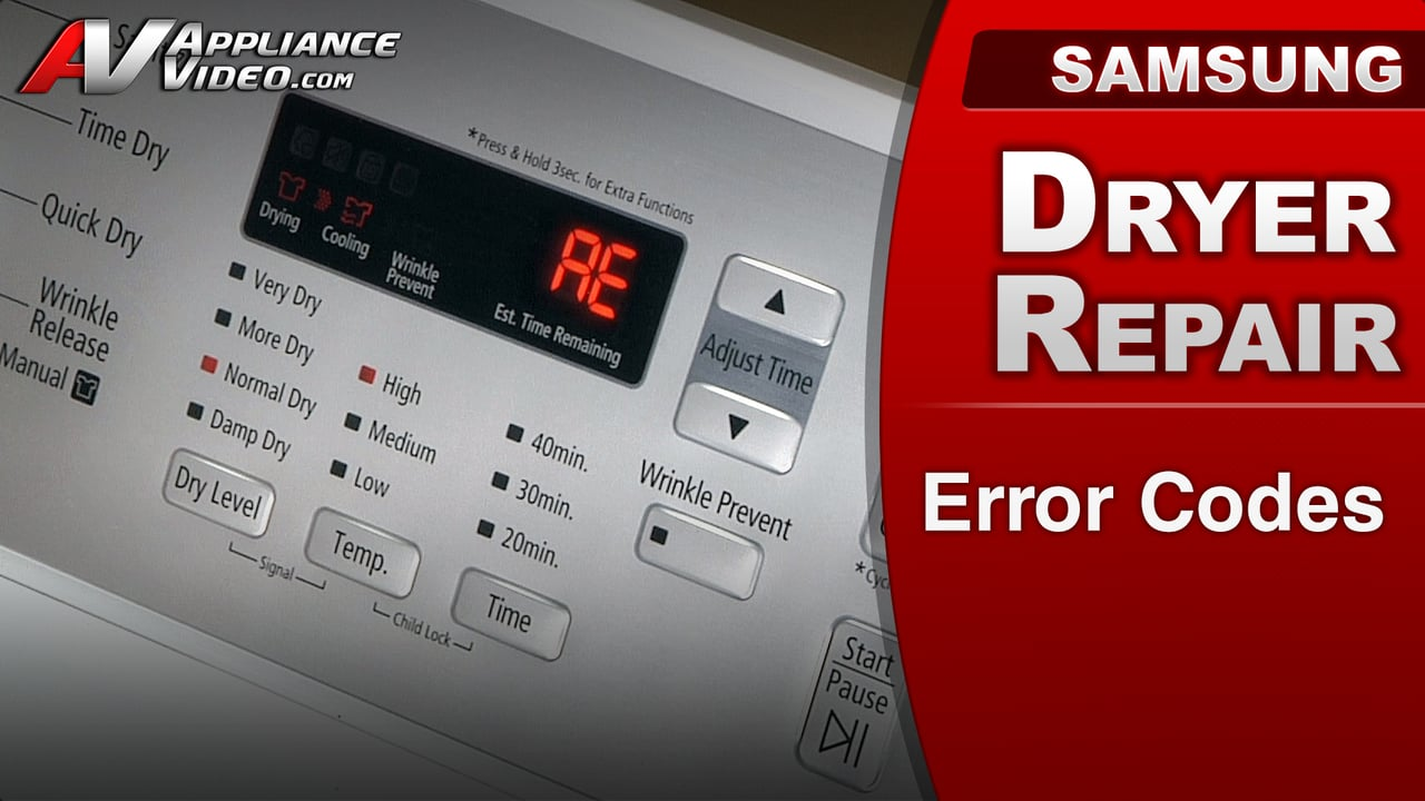Samsung Dv422ewhdwr Dryer Error Codes Appliance Video
