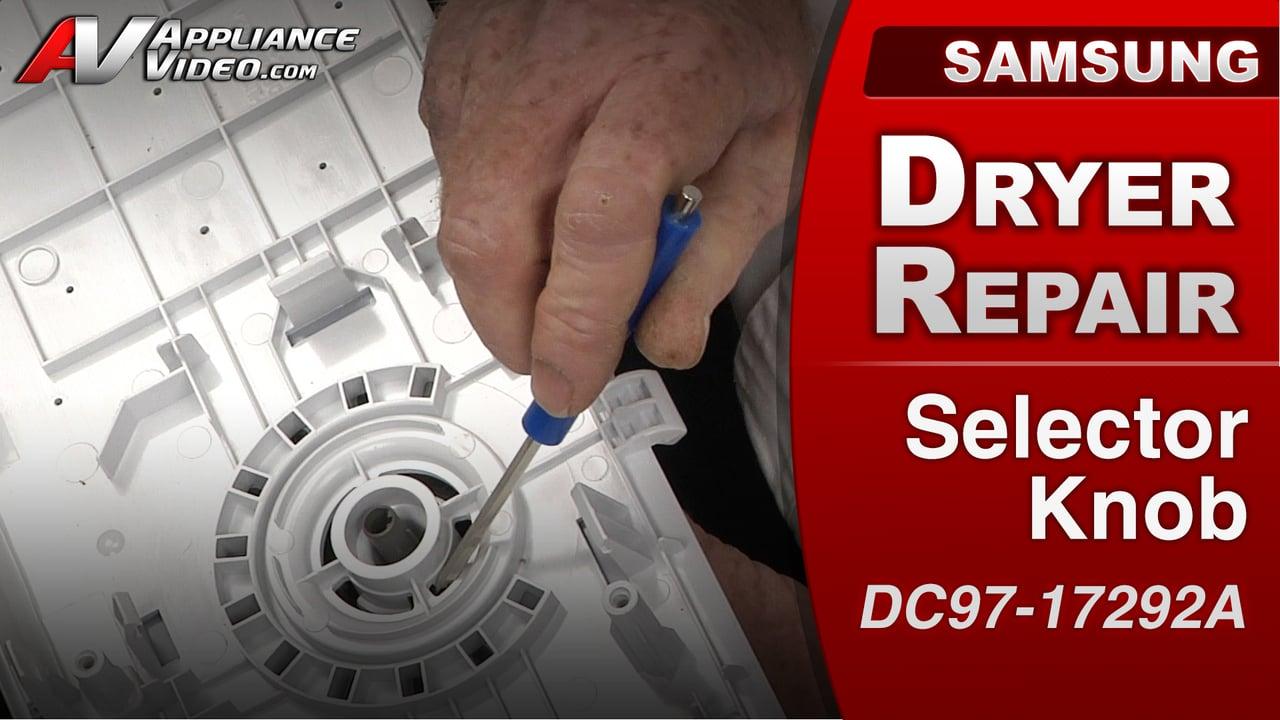 Samsung Dv422ewhdwr Dryer Knob Spins Freely Selector