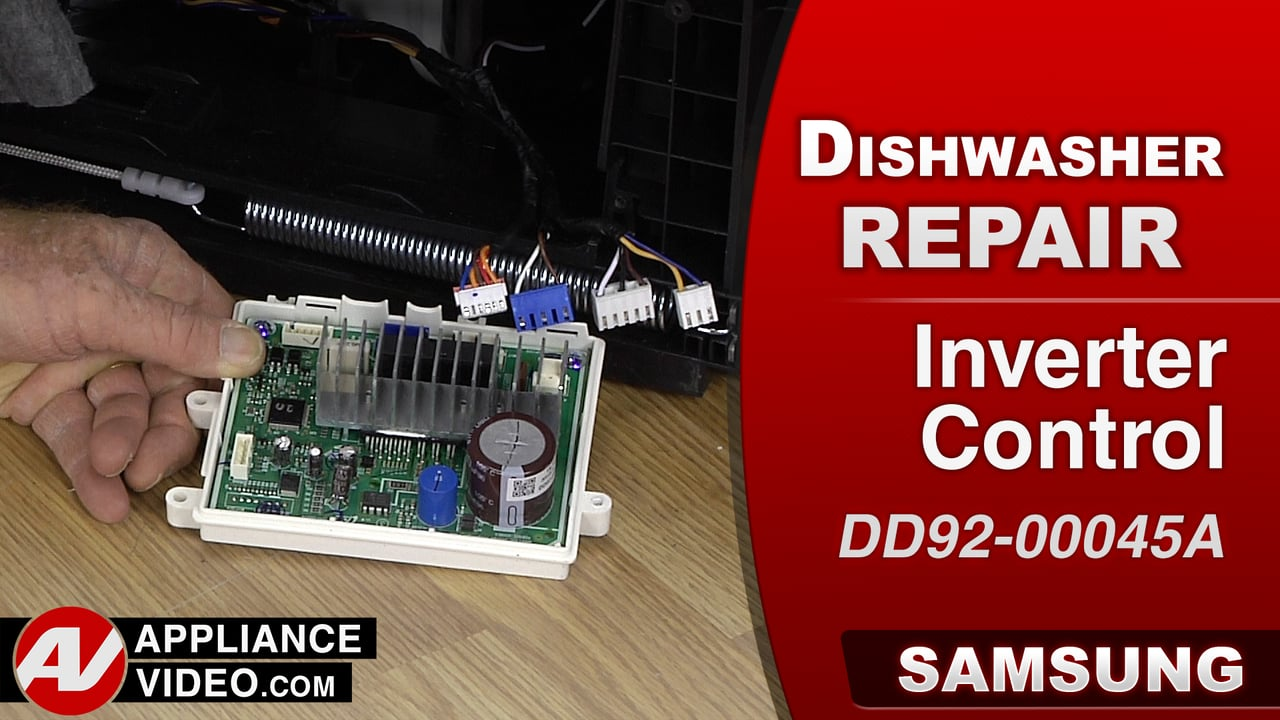 Samsung DW80J9945US Dishwasher – AE6  Error Code – PCB Inverter