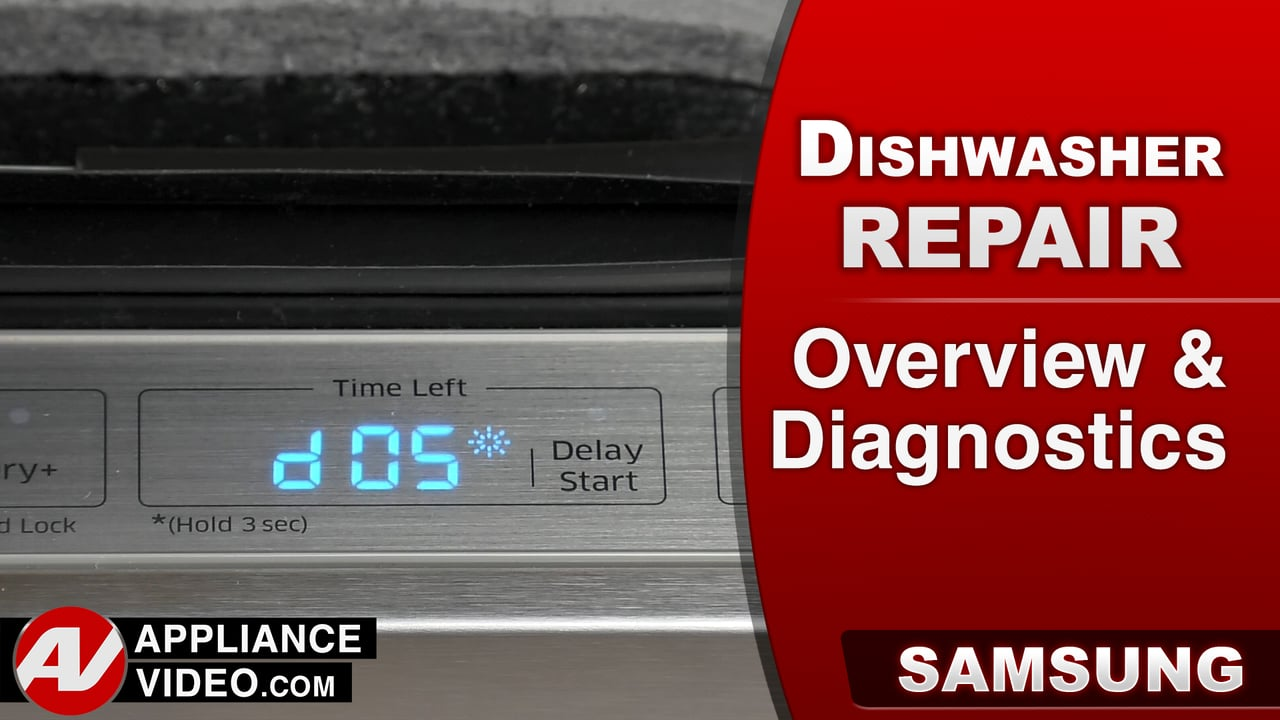 Samsung DW80J9945US Dishwasher – Overview and Diagnostic