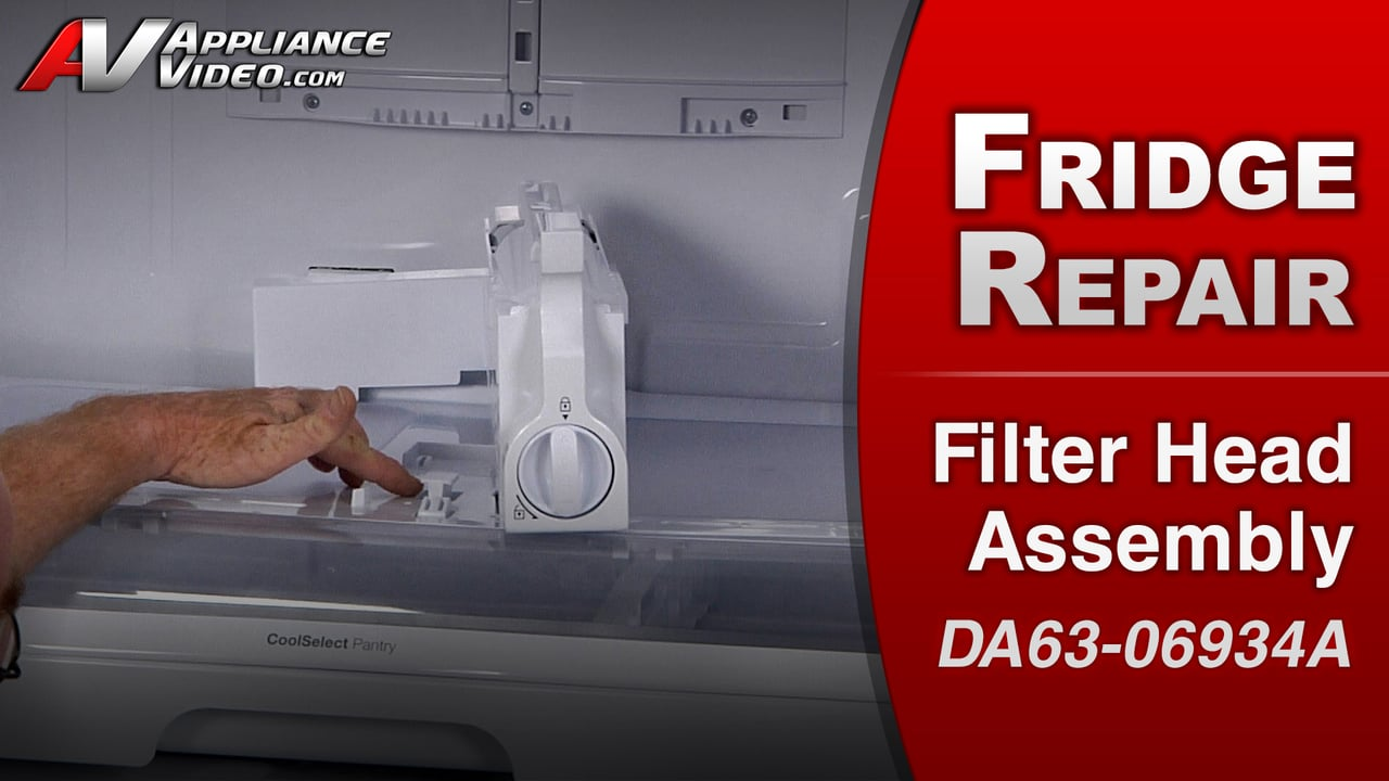 Samsung RF263TEAESR Refrigerator – Leaking water – Filter Head Assembly