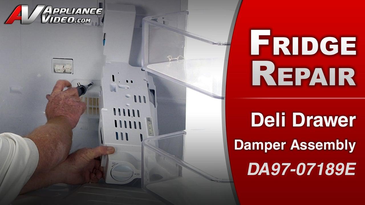Samsung RF263TEAESR Refrigerator – Deli Drawer too warm – Deli Drawer Damper Assembly
