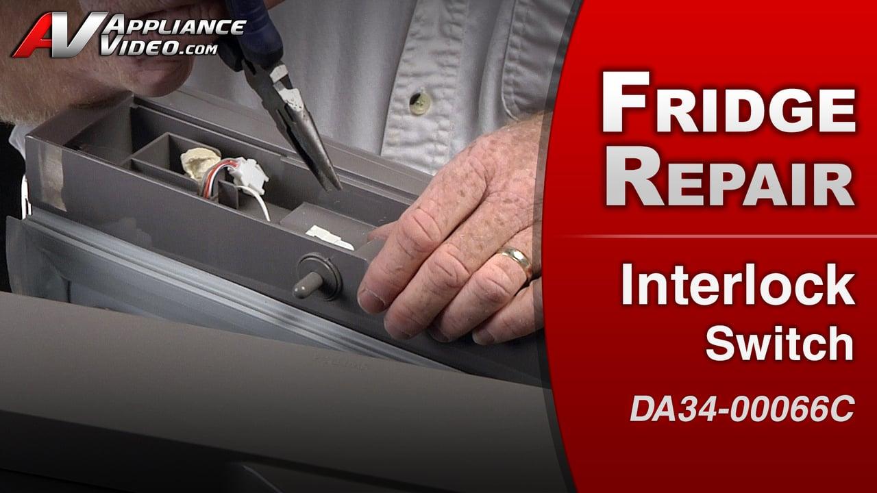Samsung RF263TEAESR Refrigerator – No Ice – Door Interlock Switch