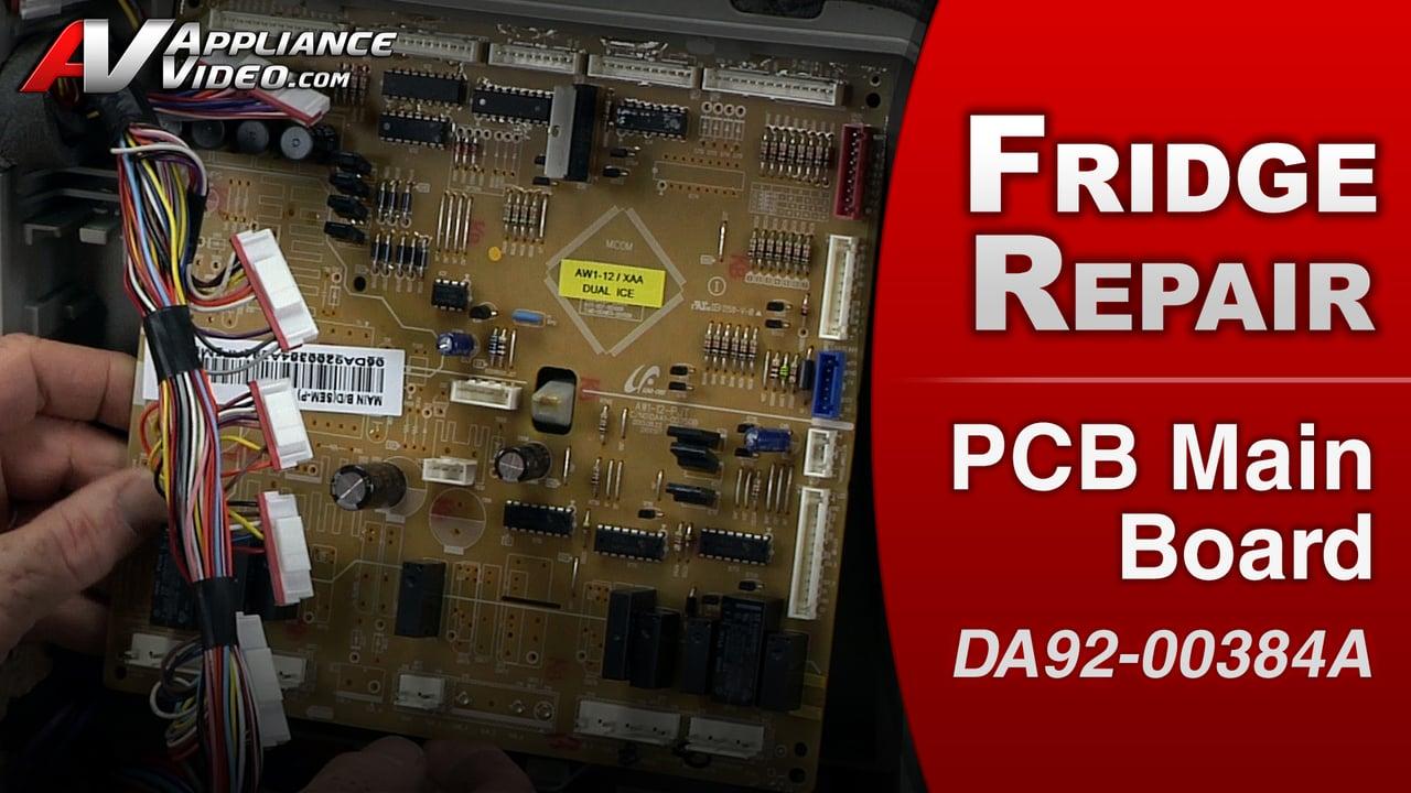 Samsung RF263TEAESR Refrigerator – Not running – PCB Main Board