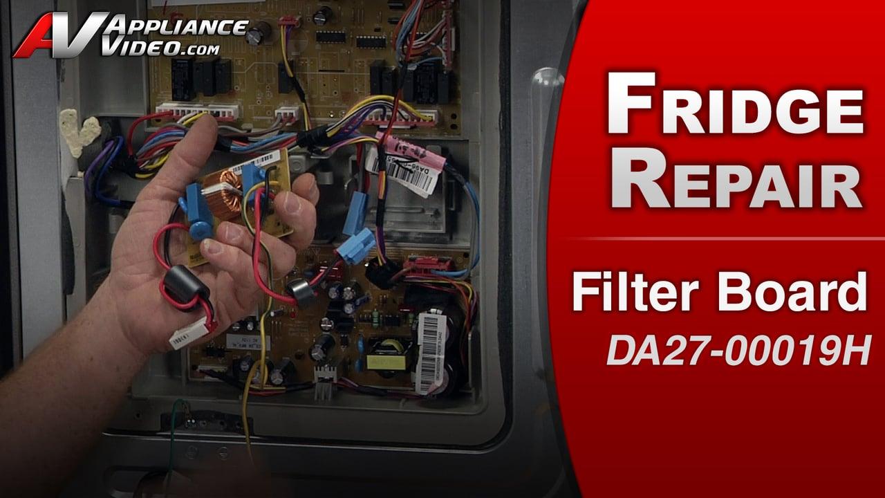 Samsung RF263TEAESR Refrigerator – No power – Filter Board