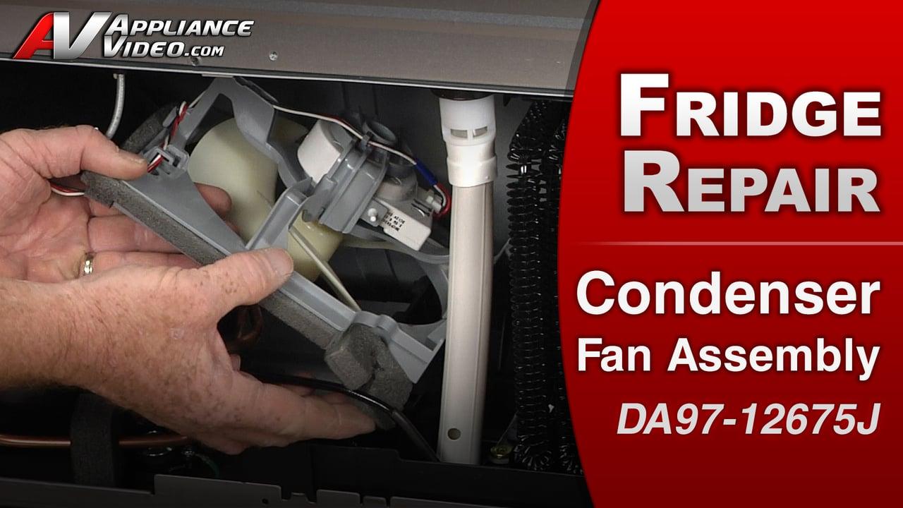 Samsung RF263TEAESR Refrigerator – Frost in freezer – Condenser Fan Assembly