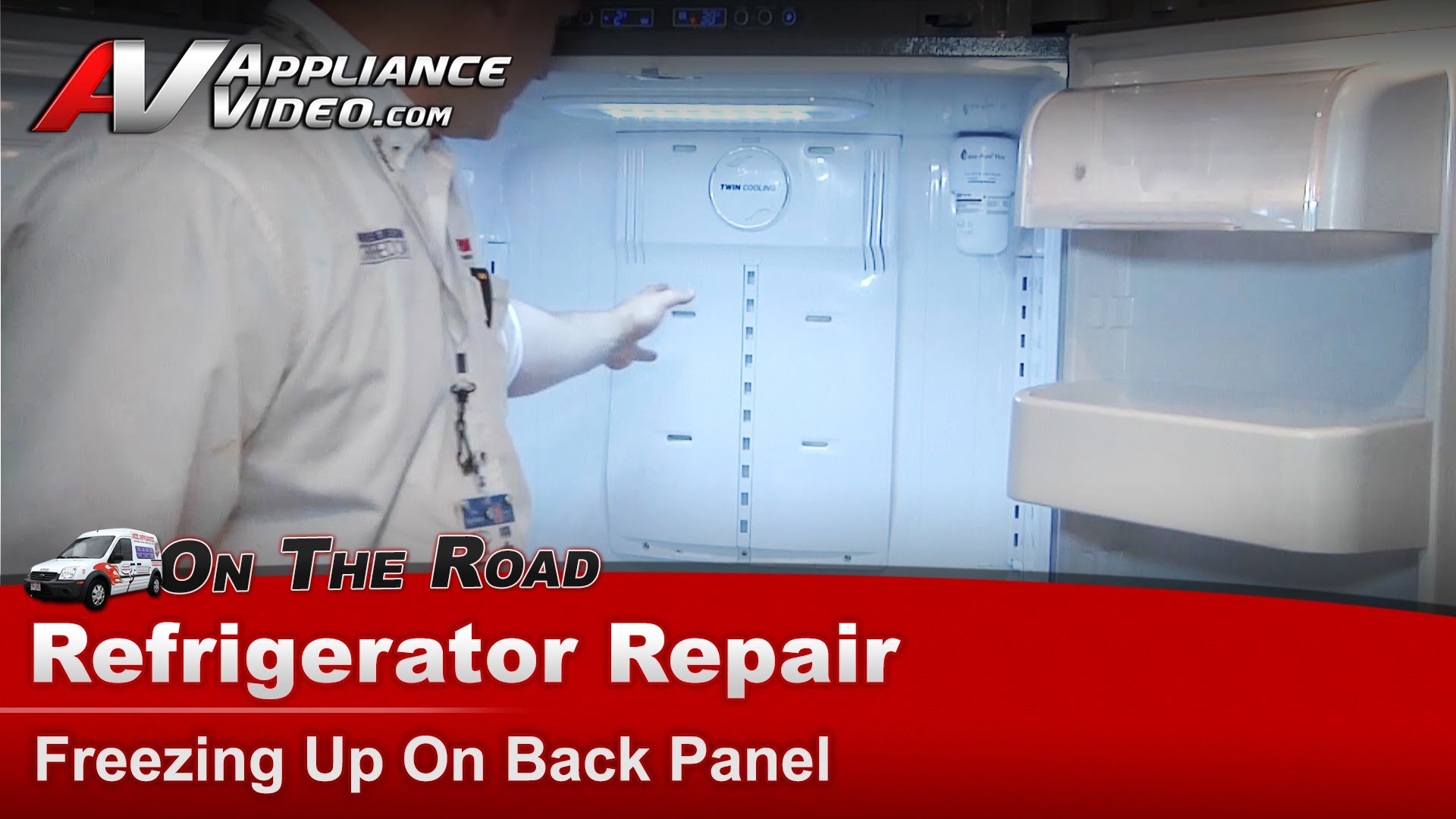 Samsung Rf266aepn Refrigerator Repair Not Cooling Properly Freezing Up On The Back Panel Evaporator And Defrost System Liance Video