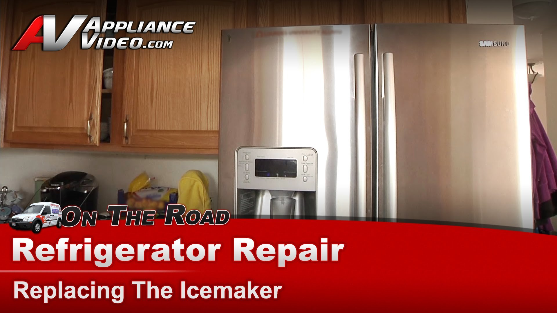 Replace refrigerator door seal - Samsung Rf267abrs Refrigerator Diagnostic And Repair Replacing The Ice Maker Ice Maker Appliance Video