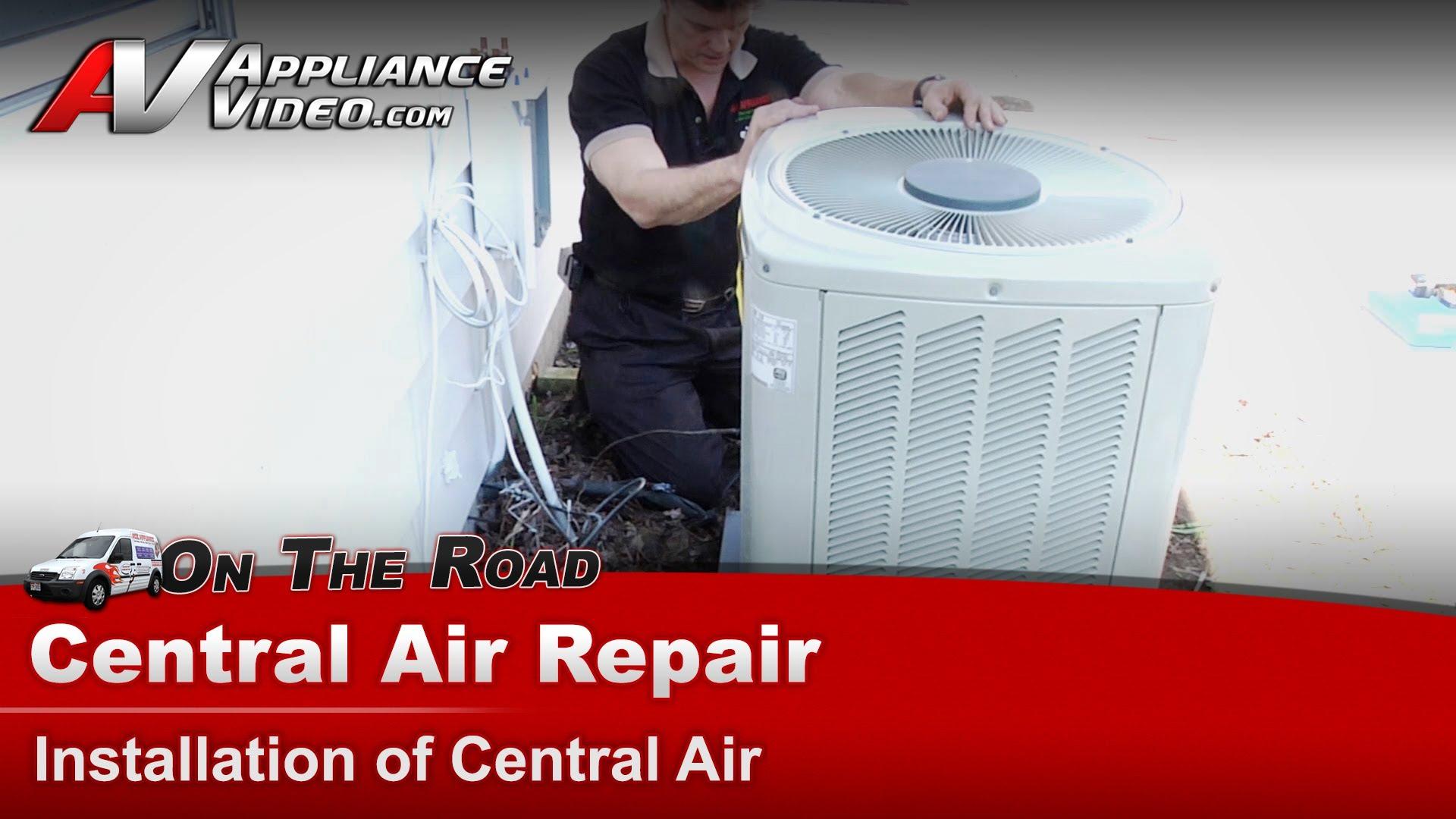 Trane Xr15 Air Conditioner Repair Installing A Central