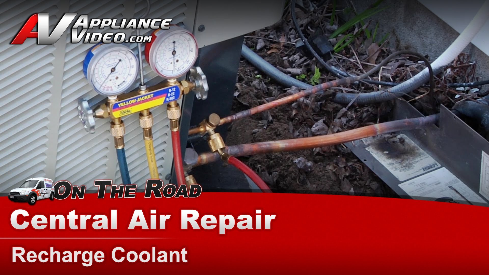 Trane Xr15 Air Conditioner Repair Recharge Coolant Appliance Video