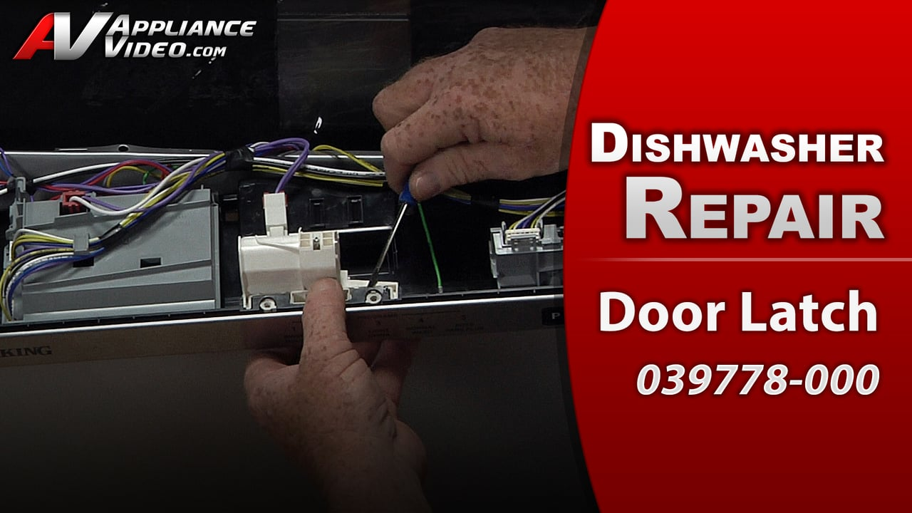 Viking FDW100 Dishwasher – Dishwasher will not start – Door Latch