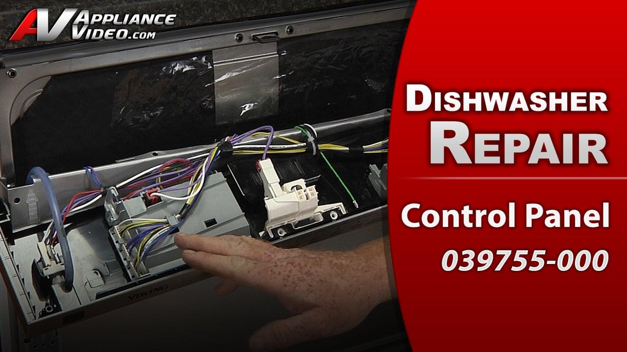 Viking FDW100 Dishwasher – Display is blank – Control Panel