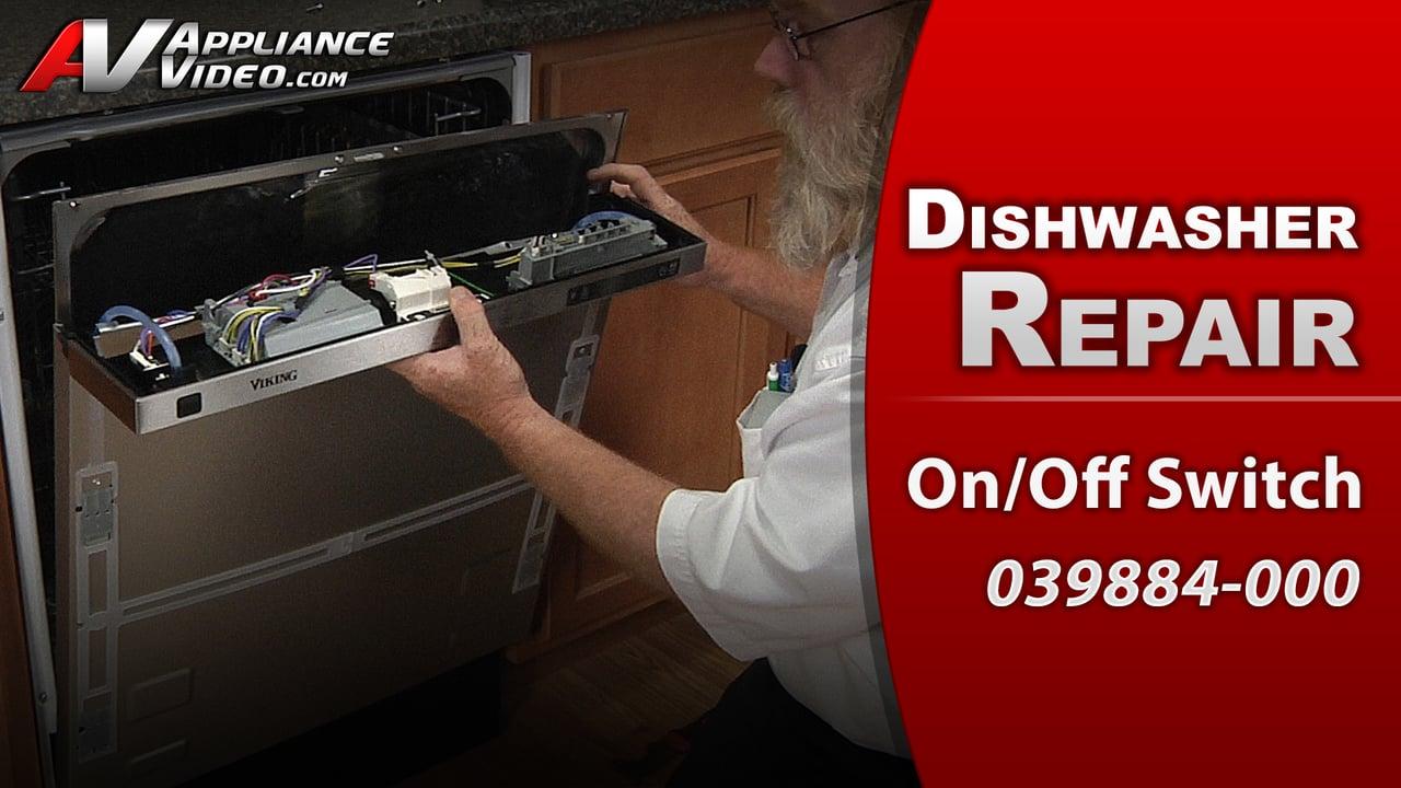 Viking FDW100 Dishwasher – No Power – On Off Switch