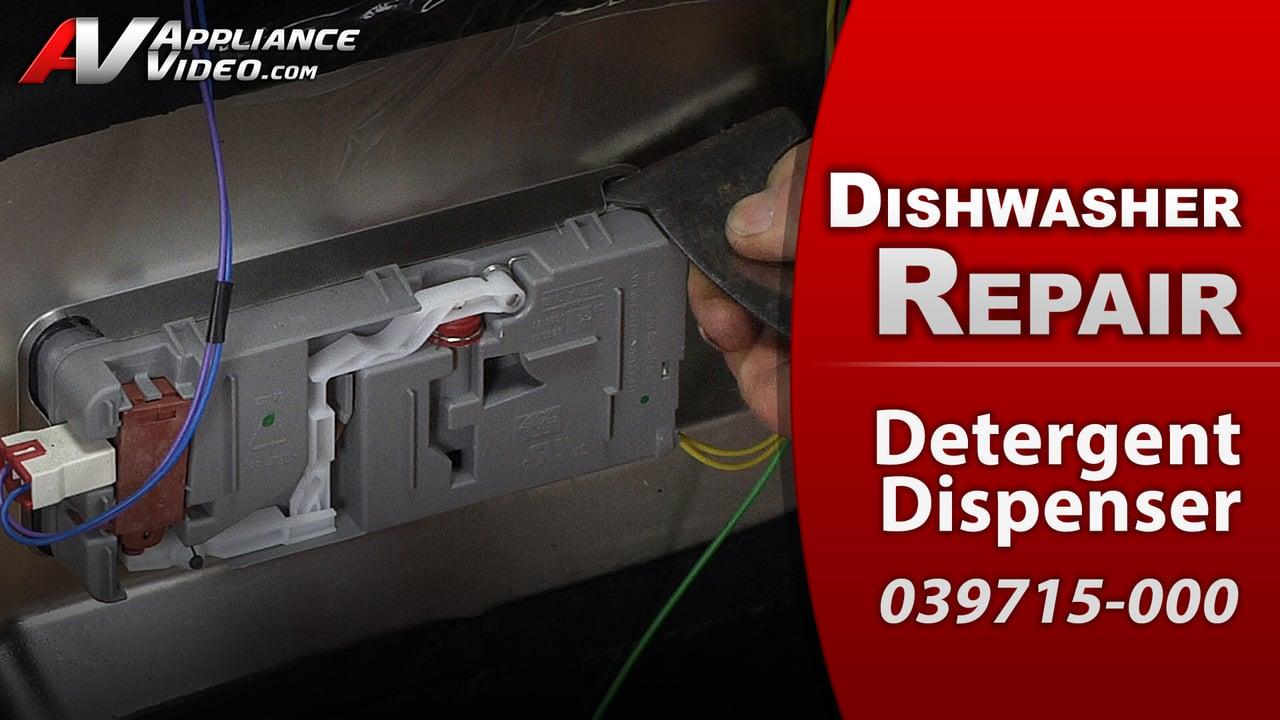 Viking FDW100 Dishwasher – Soap stuck in dispenser – Detergent Dispenser