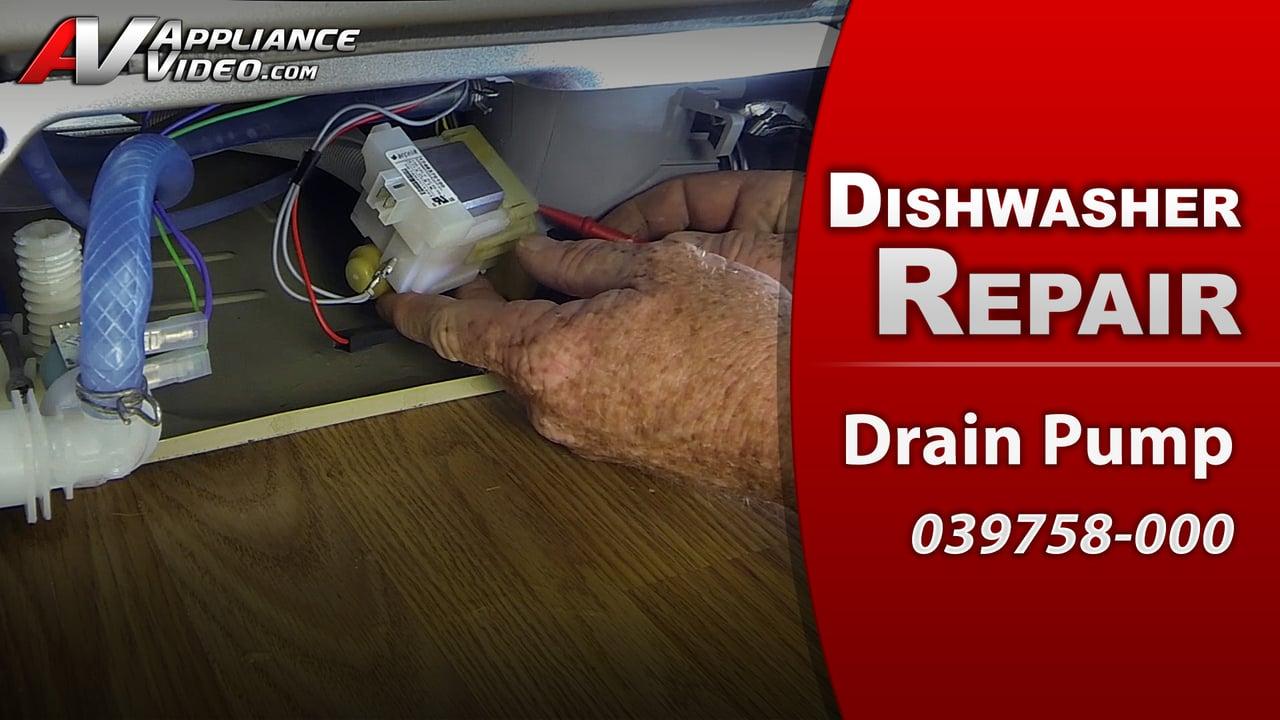 Viking FDW100 Dishwasher – Standing water in tub – Drain Pump