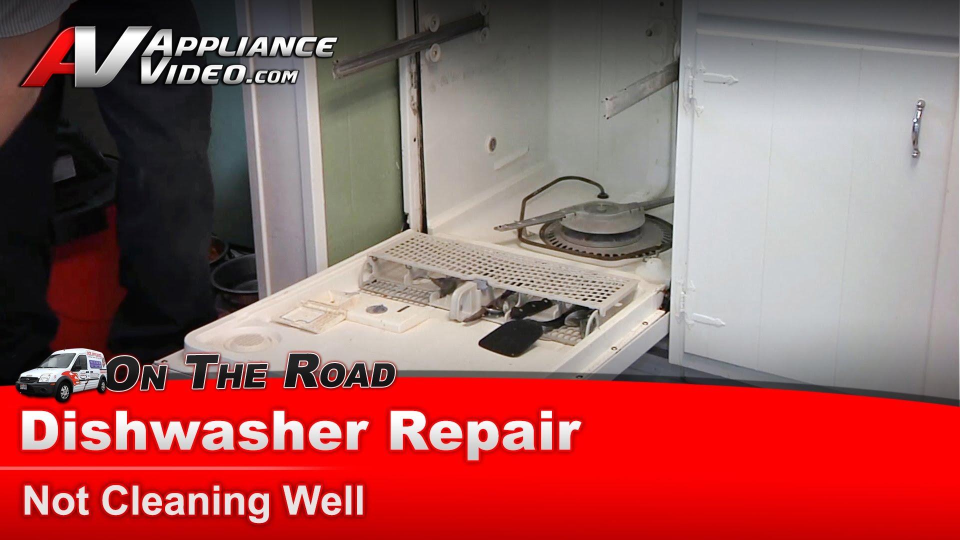 How To Repair Dishwasher Whirlpool Du1100xtpq1 Dishwasher Repair Not Cleaning Well