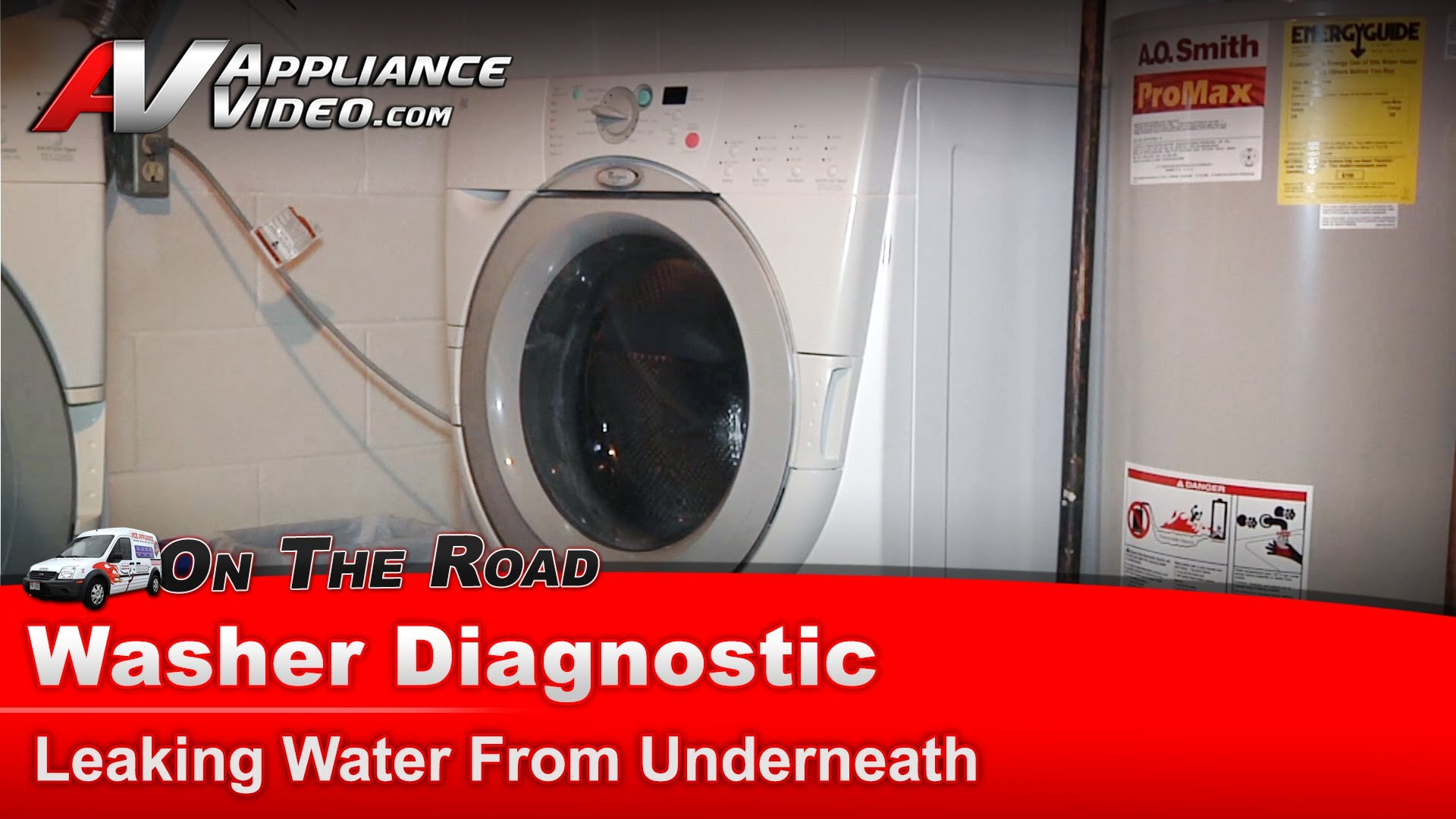 Washing Machine Leaking >> Whirlpool GHW9150PW1 Washer Diagnostic – Leaking water from underneath – Bellow | Appliance Video