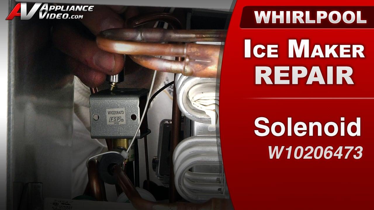 Whirlpool GI15NDXXQ Ice Maker – Block of ice on Freeze Plate – Solenoid