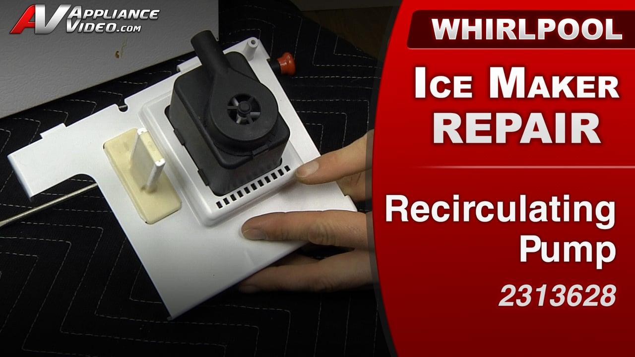 Whirlpool GI15NDXXQ Ice Maker – No ice production – Recirculating Pump