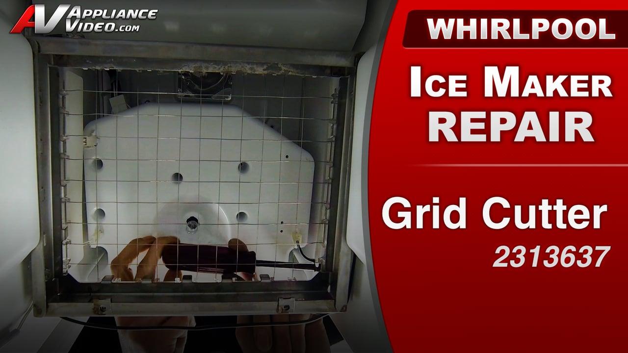 Whirlpool Gi15ndxxq Ice Maker Uneven Ice Cubes Grid