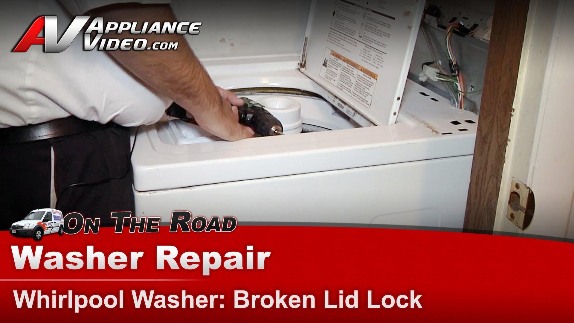 Whirlpool LSR8433KQ0 Washer Repair – Broken lid lock – Lid