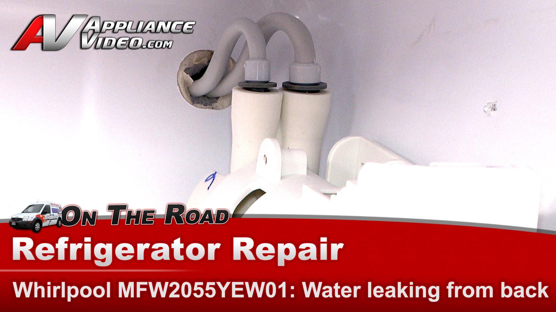 whirlpool refrigerators troubleshooting water leaking