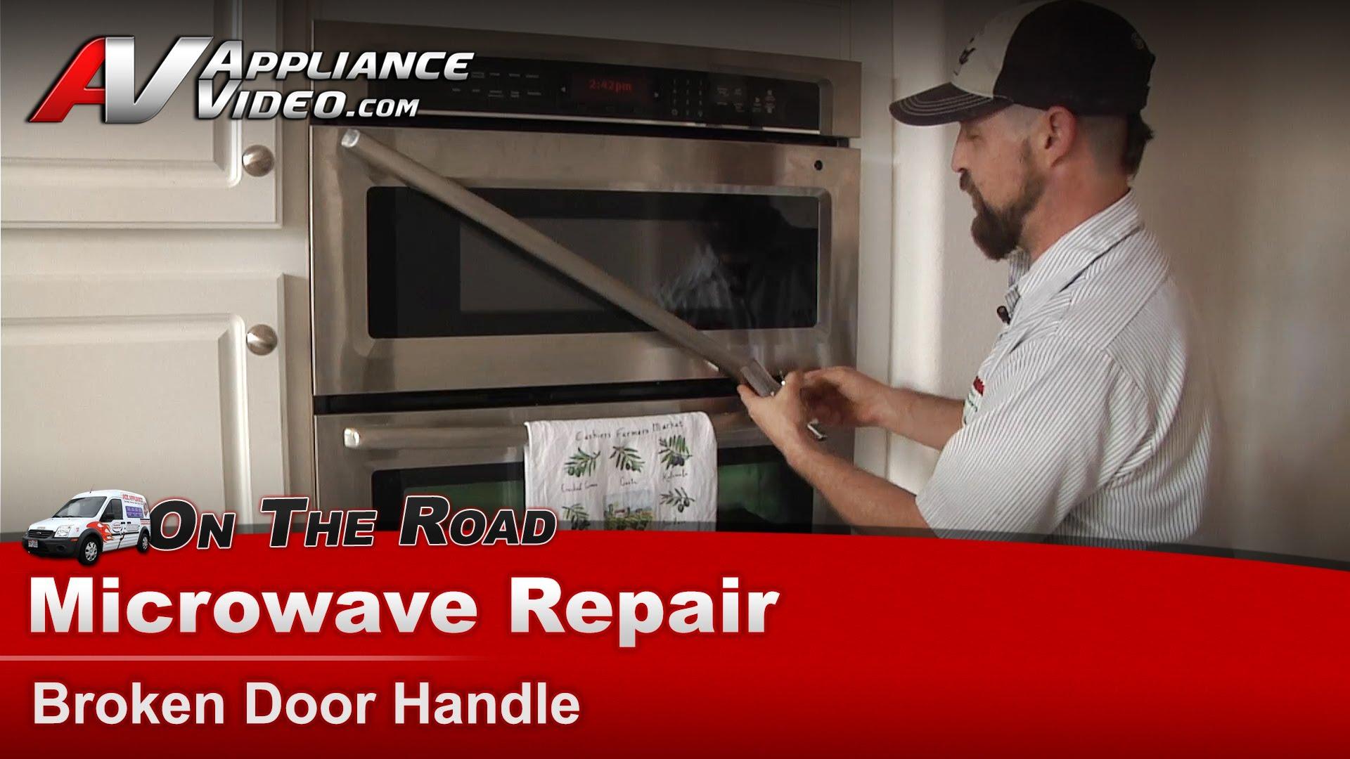 Whirlpool Mmw9730a500 Microwave Diagnostic And Repair Broken Door Handle Liance Video