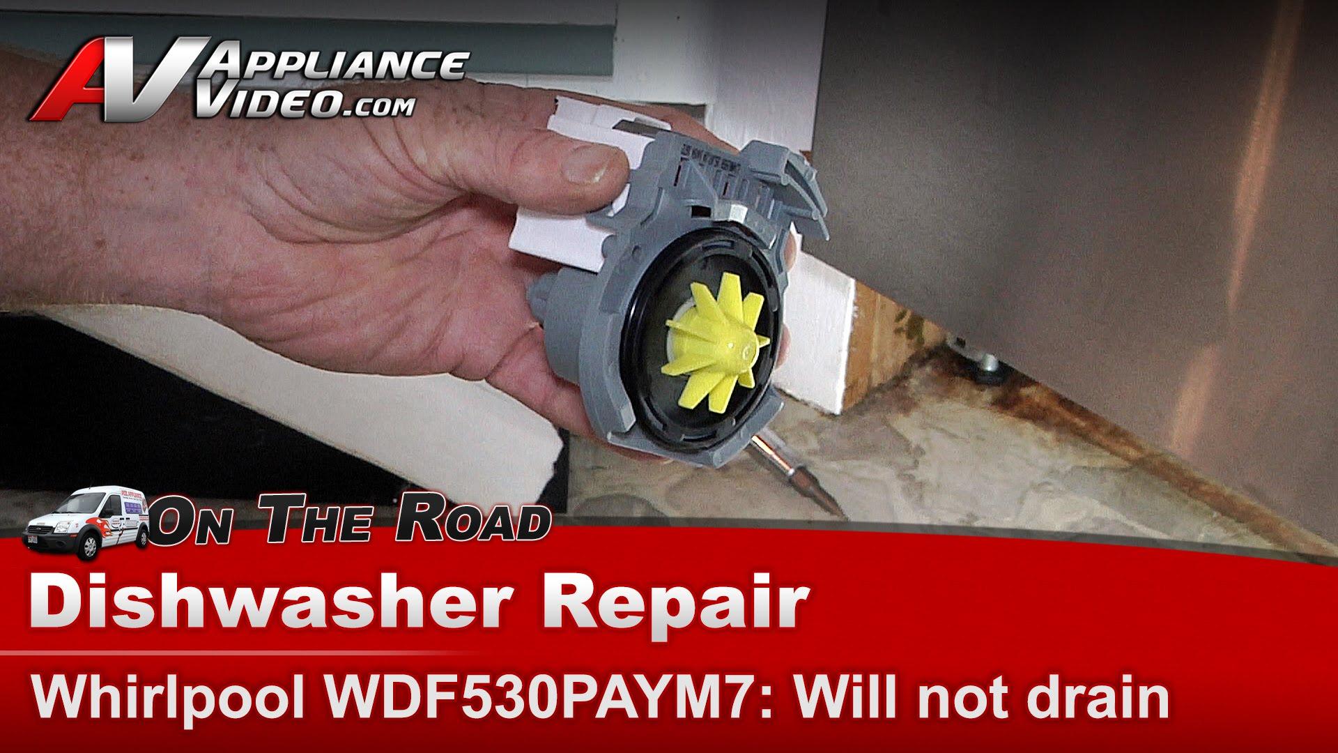 Whirlpool Wdf530paym7 Dishwasher Repair Not Draining