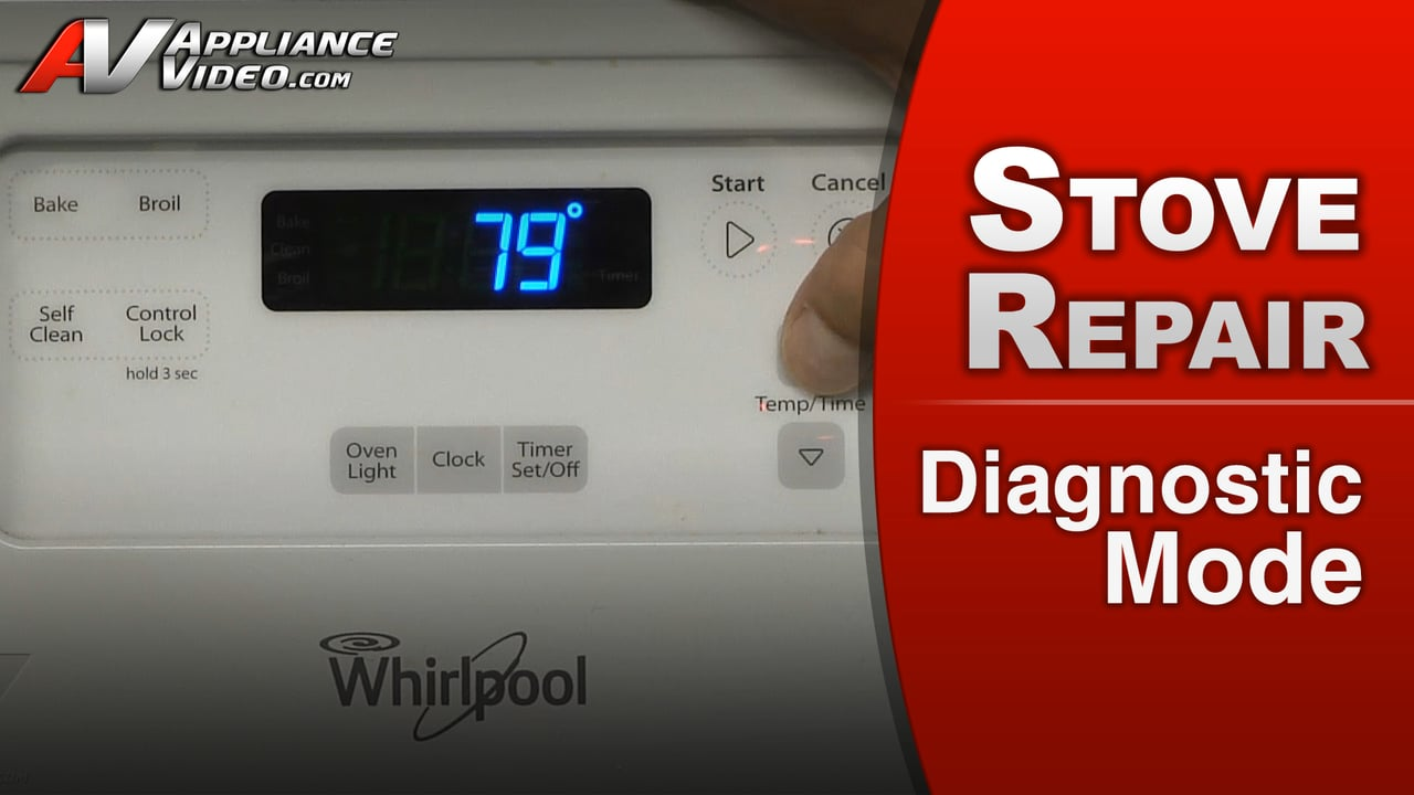 Whirlpool Wfe510s0aw0 Stove Diagnostic Mode Oven