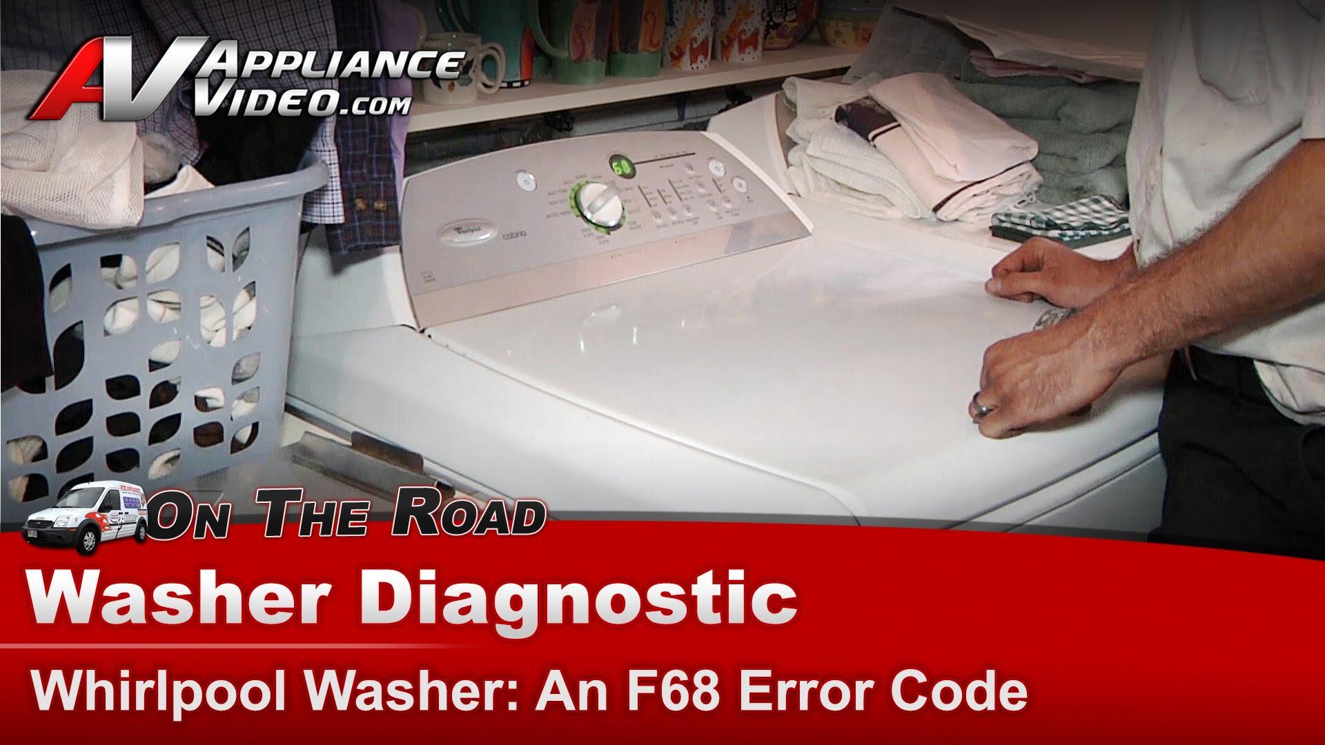 Whirlpool WTW6400SW2 Washer Diagnostic – An f68 error code