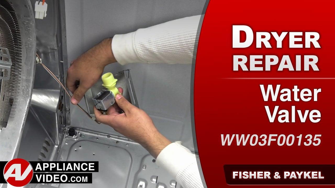 Fisher & Paykel DE7027P1 Dryer – Leaking water – Water Valve