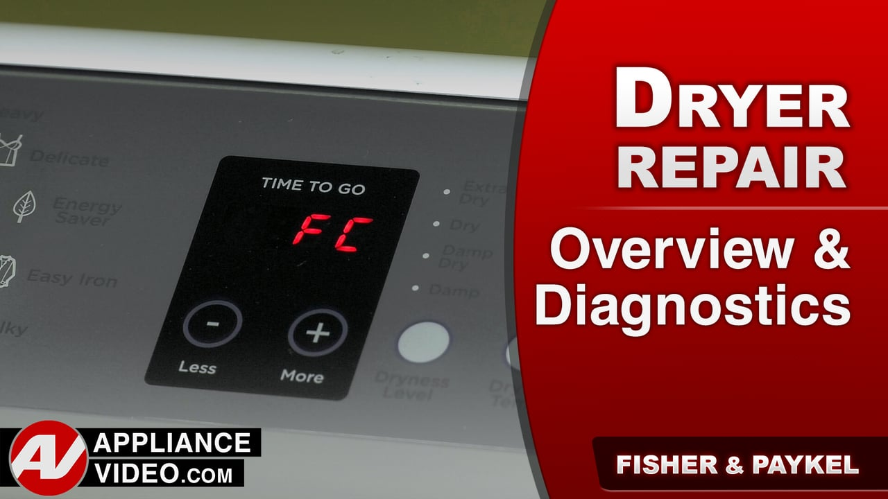 Fisher & Paykel DE7027P1 Dryer – Overview & Diagnostics