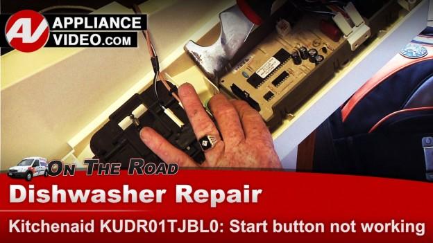 Kitchenaid dishwasher control panel start button not working appliance video - Kitchenaid dishwasher troubleshooting not draining ...