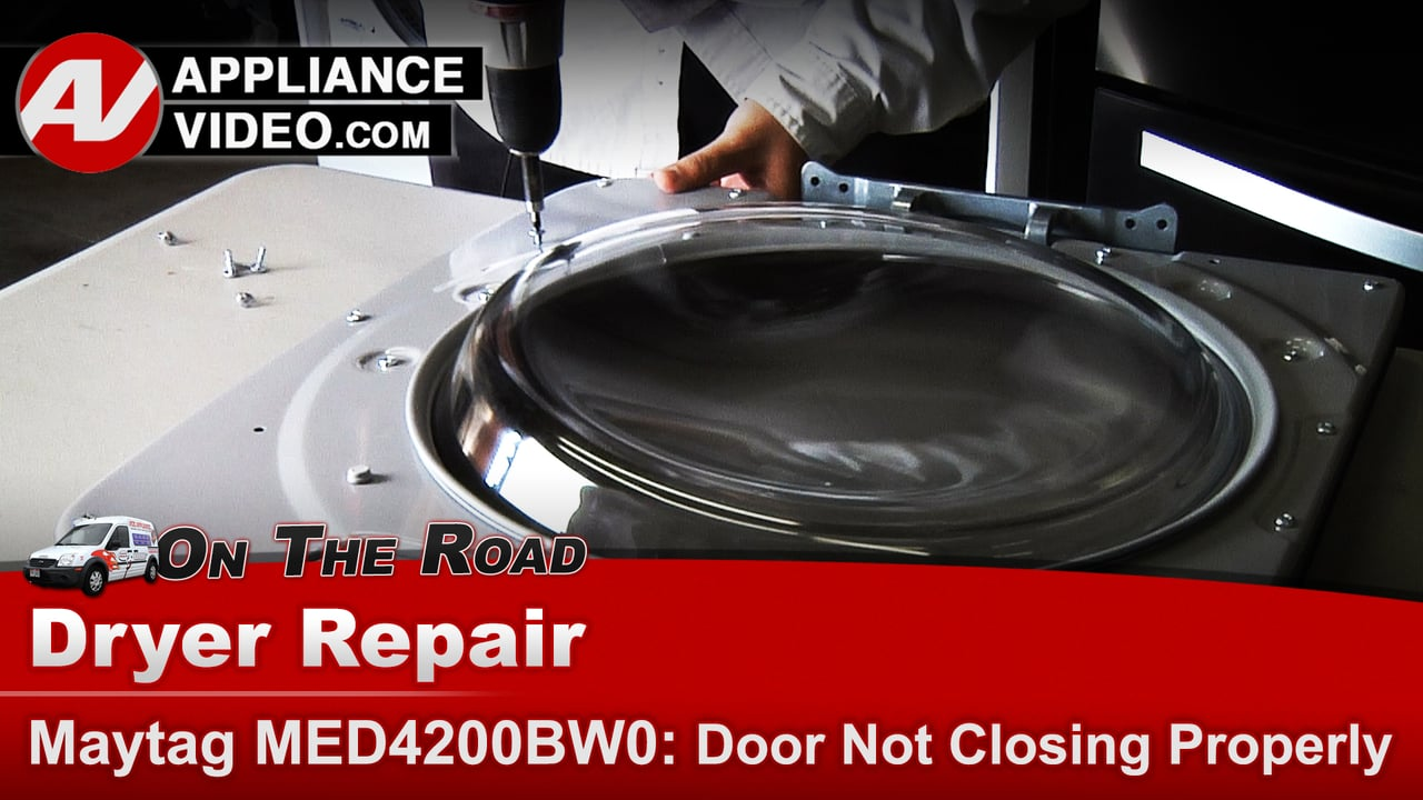 Maytag dryer door door not closing appliance video for Door not closing