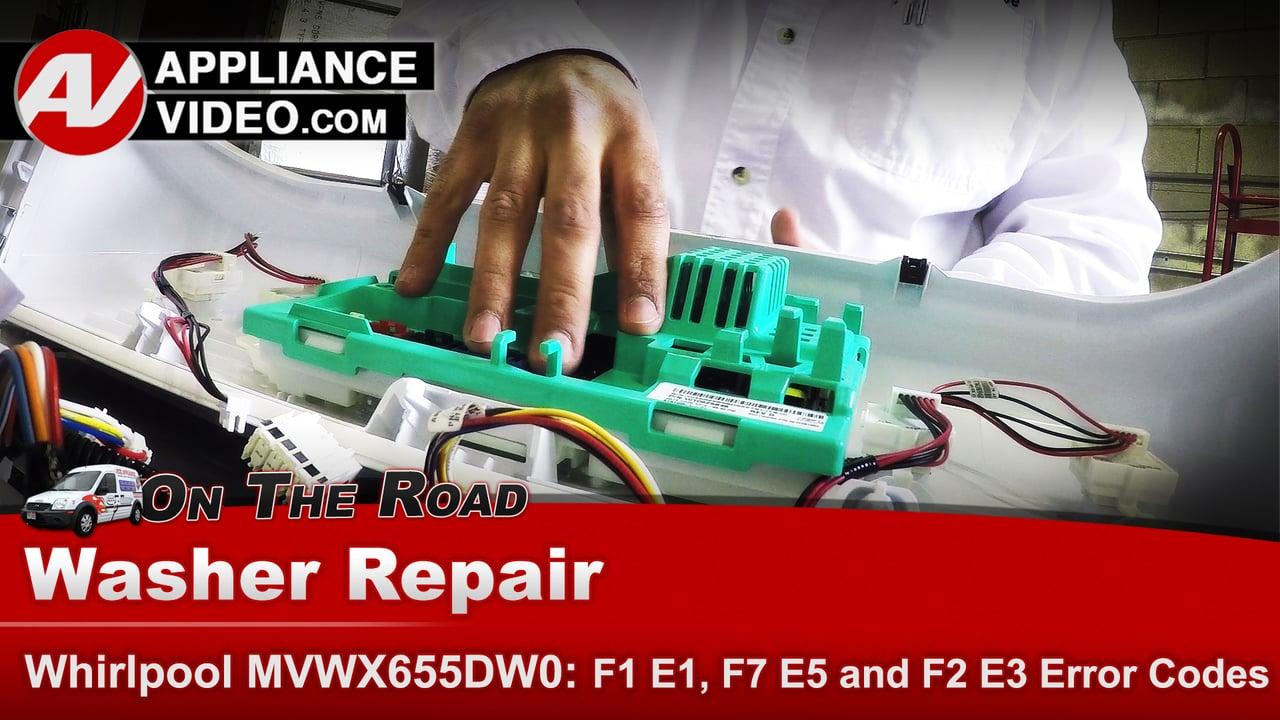 Whirlpool Washer F1 E1 Error Code Not Running